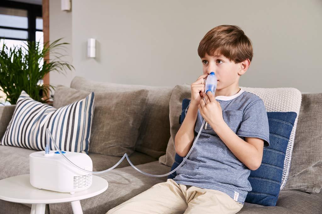 OMRON C102 - Total inhalador para niños y adultos con ducha nasal 2 en 1, color blanco