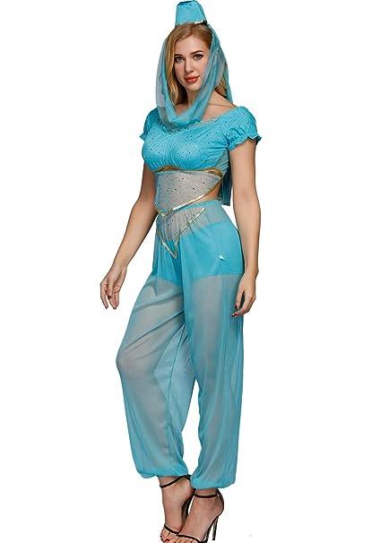8e84d3f11d Amazon.com: Sexy Genie Costume - Adult Indian Princess Halloween ...