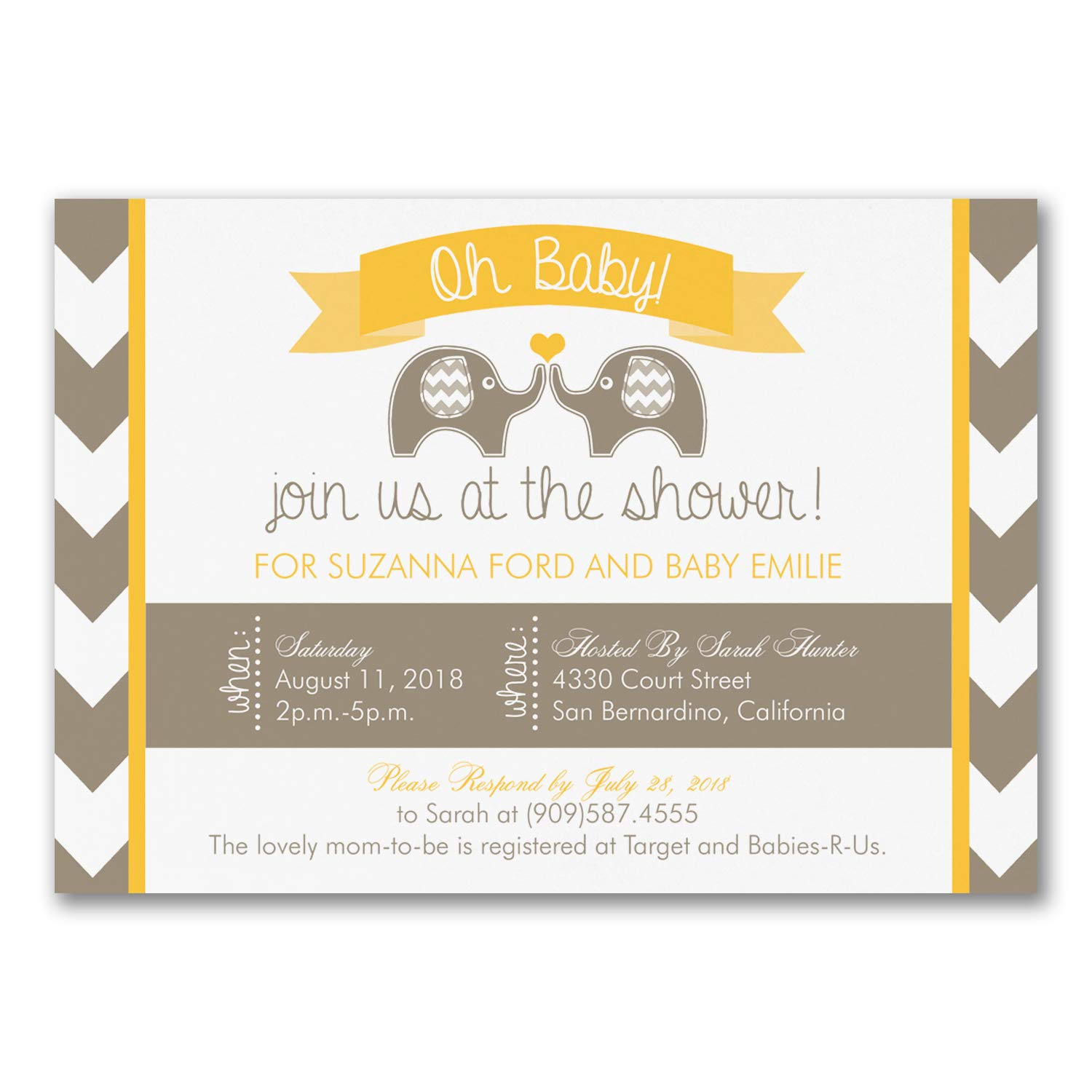 1050pk Oh Baby - Baby Shower Invitation-Shop All Baby