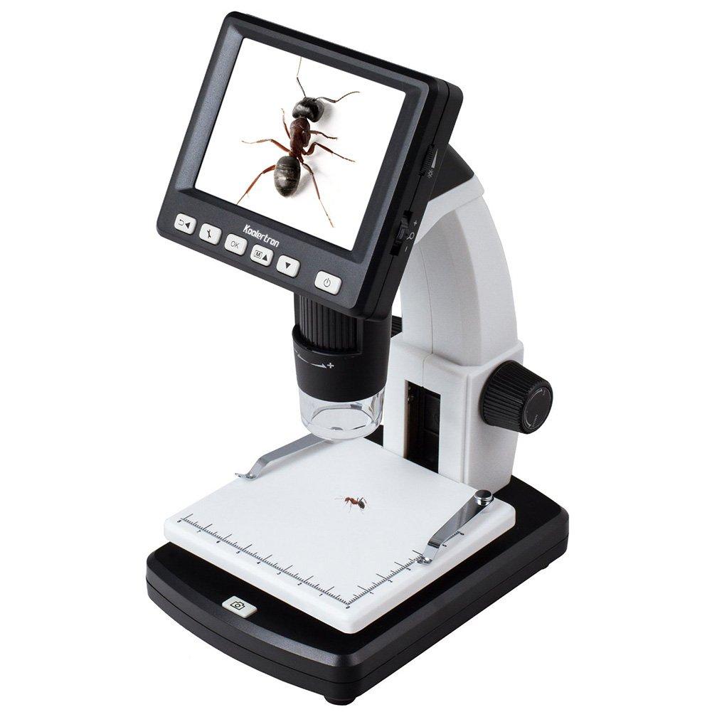 Koolertron 3.5'' LCD Digital Microscope with 5MP Image Sensor 1200x Digital zoom, USB connectable portable with LCD display 20-300x Optical Zoom 5Mpix Digital Camera
