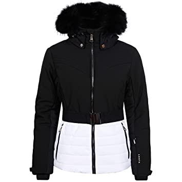 Veste ski femme noir et blanc