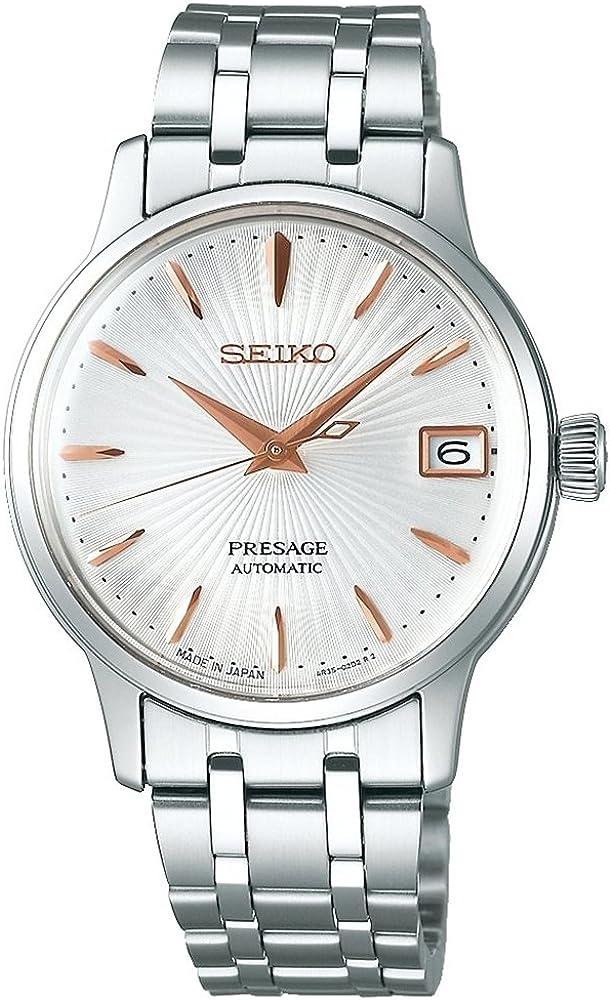 Seiko Reloj Analógico para Mujer de Automático con Correa en Acero Inoxidable SRP855J1
