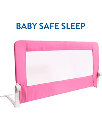 Tatkraft Guard Barandilla para Cama de Bebé Abatible Anticaidas Acero/Plástico/Poliester 120X47X65 cm
