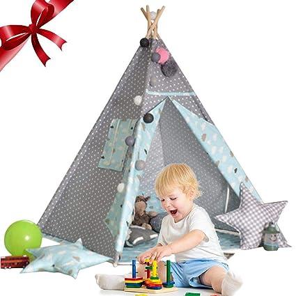 Y Tienda De Campaña Infantil,Tienda para Niños, Tipi Niños Lienzo De