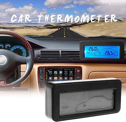 Akaddy Dc12v Digital Auto Thermometer Mini Lcd Hintergrundbeleuchtung Temperaturmesser Blau Baumarkt
