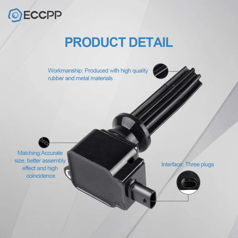 ECCPP Ignition Coils Pack of 4 Compatible Ford//Lincoln MKZ 2012-2018 Replacement UF670 C1816 DG546