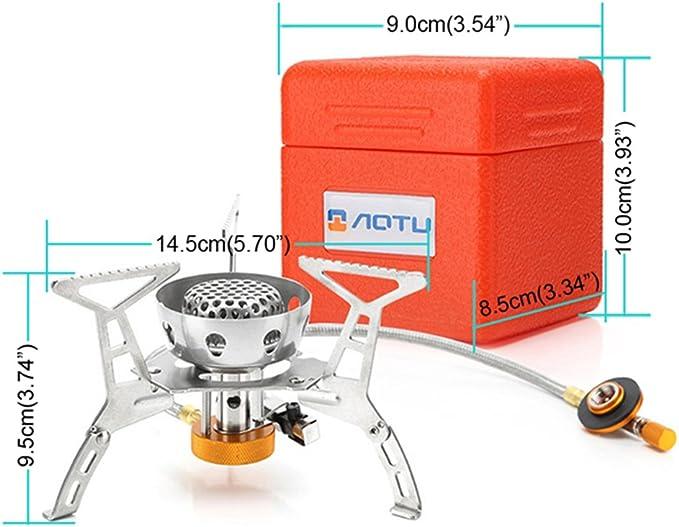 Resistente al Viento 3200 W portátil estufa de Camping estufa ...