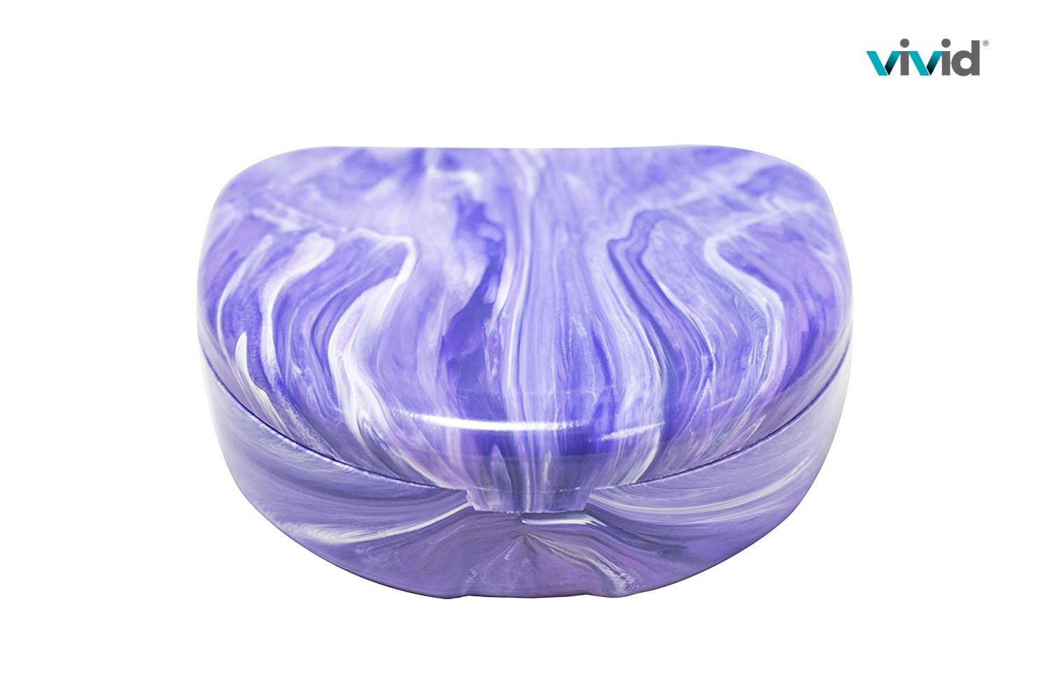 by Vivid Marble Color Mouthguard Case for Retainer and Dentures Portable Denture Cases Orthodontic Retainer Case With Hinged Lid Snaps Lavender Pearson Dental Supply