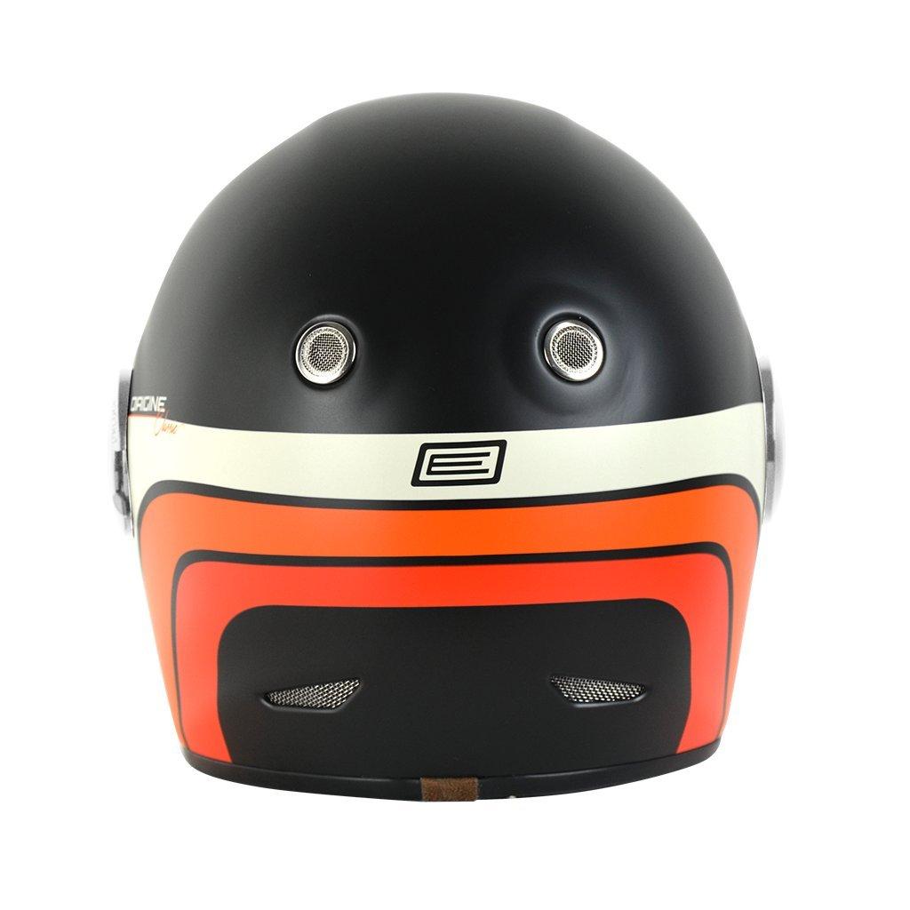 Classic Black /Caf/é Racer L Origine Casco integral de fibra de vidrio Vega 59-60 CM