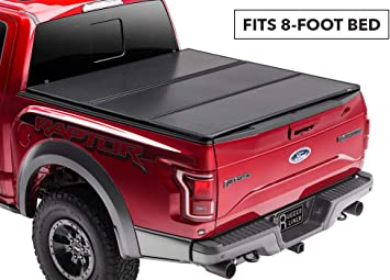Amazon Com Rugged Liner Premium Hard Folding Truck Bed Tonneau Cover Hc F899 Fits 99 16 Ford Super Duty F 250 350 8ft 8 Bed Automotive