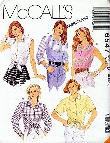 McCall's 6547 ©1993 Misses Set of Western Wear Yoke Shirts; Size B ()
