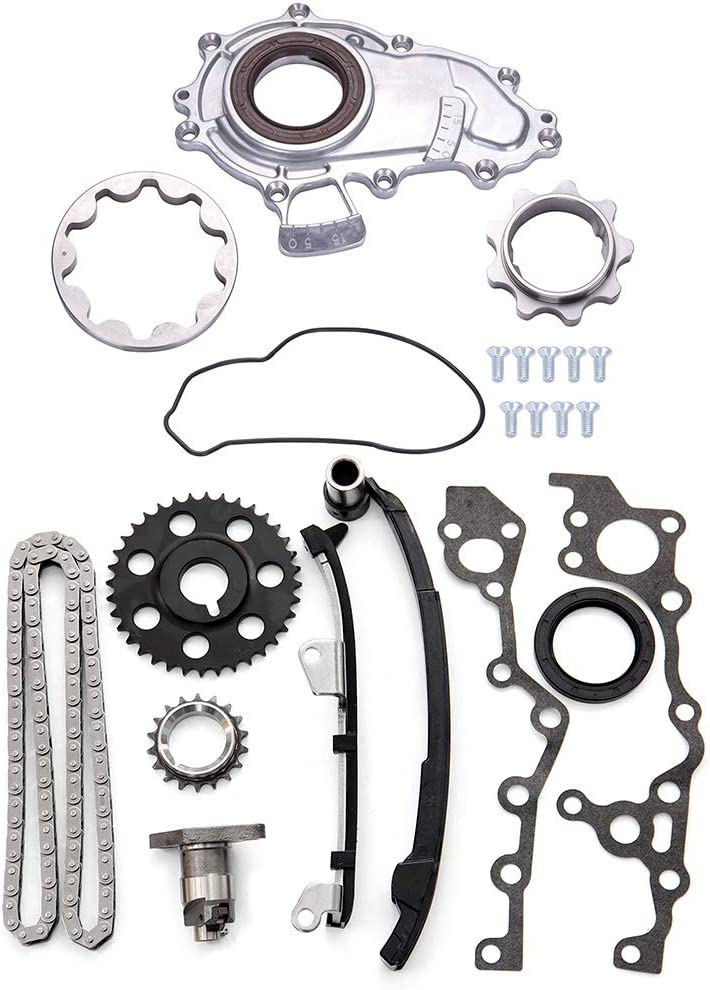 Aintier Timing Chain Kit Oil Pump Fit for 1995-2004 Toyota Tacoma