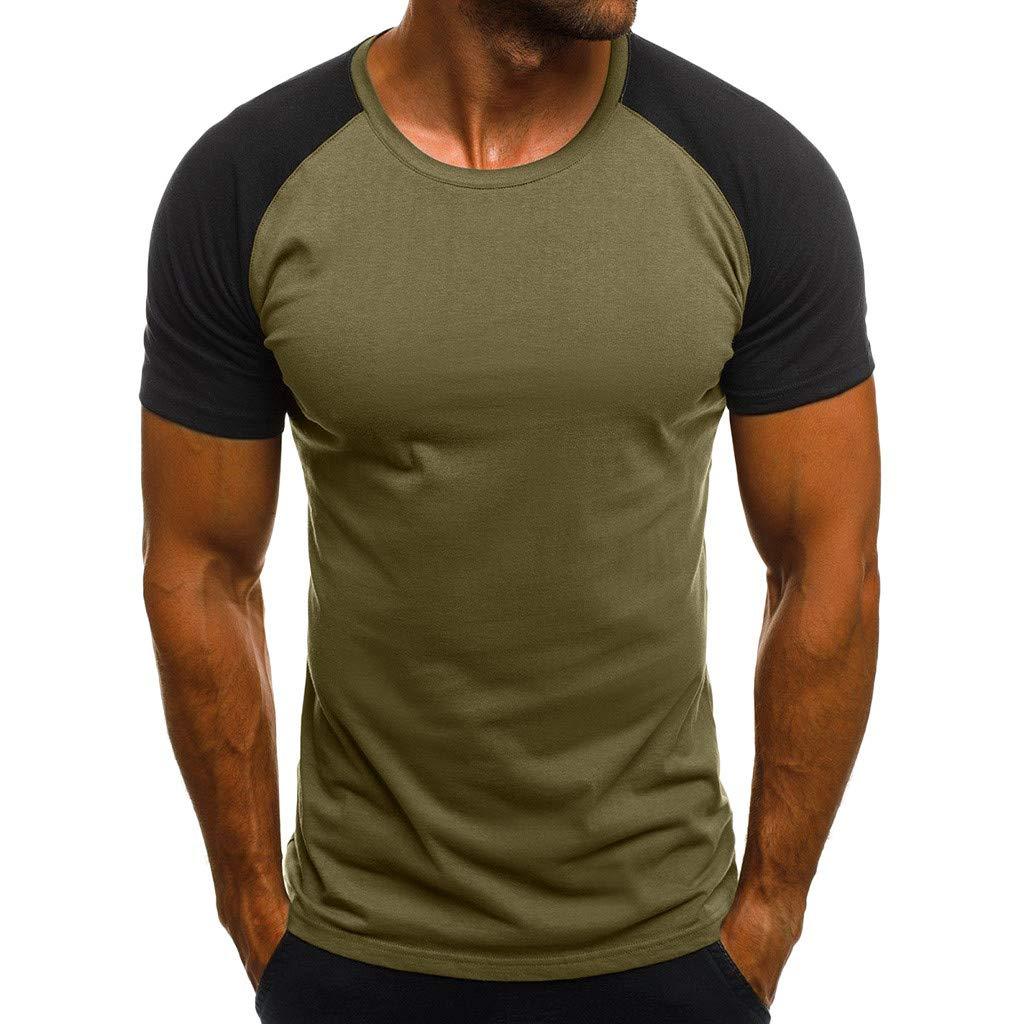 VICCKI Fashion Mens Casual Slim Camouflage Printed Short Sleeve T Shirt Top Blouse