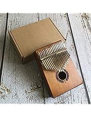 TZZD Nuevo 17 Clave Africana de Madera sólida del Dedo Pulgar Piano Sanza Mbira Calimba Juego con Madera de la Guitarra de los Instrumentos Musicales (Color : Yellow)