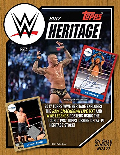 2017 Topps WWE Heritage Wrestling 7ct Blaster Box