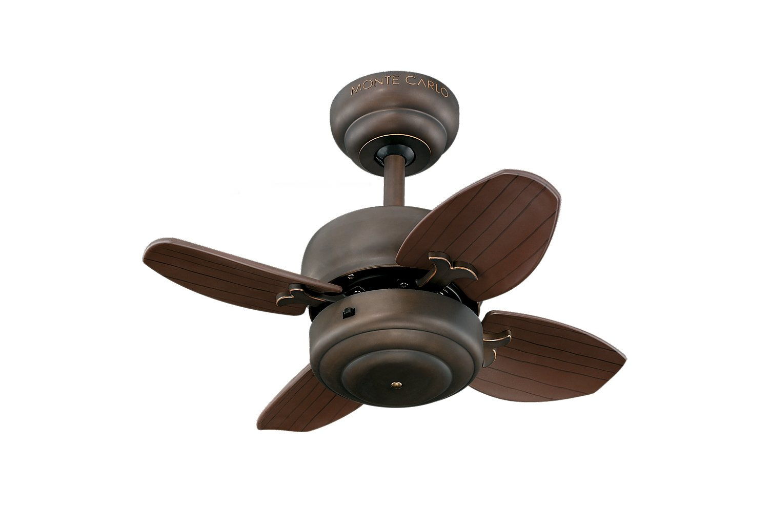 "Monte Carlo 4MC20RB Mini Ceiling Fan 20"" Roman Bronze Amazon"