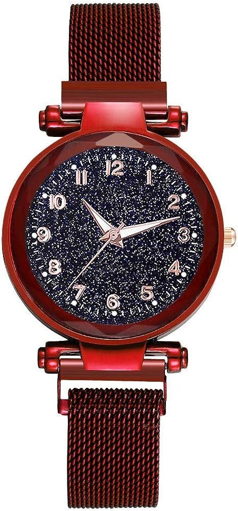 Yivise Mujeres Moda Simple Starry Dial Reloj de Cuarzo de ...