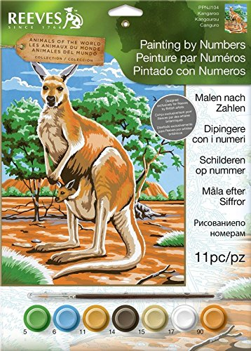 Reeves Medium Painting By Numbers - Kangaroo