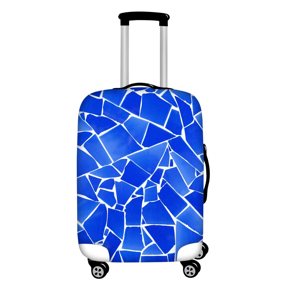 bddee7de9243 HUGS IDEA Travel Luggage Cover Abstract Broken Art Design Suitcase  Protective Covers for 18/20/22 Inch