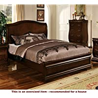 247SHOPATHOME Idf-7503CK Platform-Beds, California King, Walnut