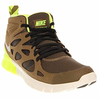new products 7d9f9 67d6a NIKE Mens Free Run 2 Sneakerboot Suede Running, Cross Trainers