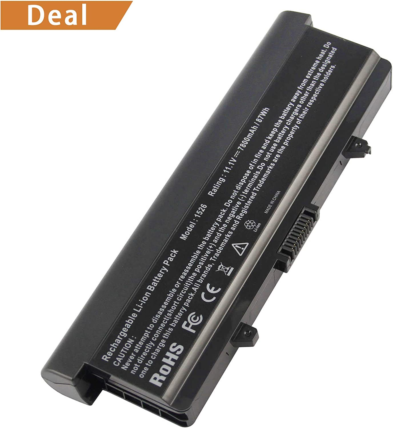 Fancy Buying Laptop Battery Replacement for GW240 Dell Inspiron 1525 1545 New [9 Cells 11.1V 7800mAh/87Wh]