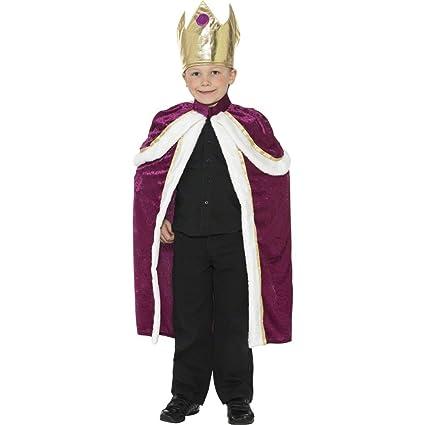 Rey traje rojo M soulcats infantil oro 140 cm soulcats capa ...