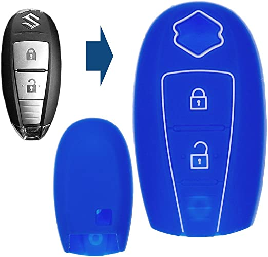 Soft Case Schutz Hülle Auto Schlüssel Smartkey Blau Für Elektronik