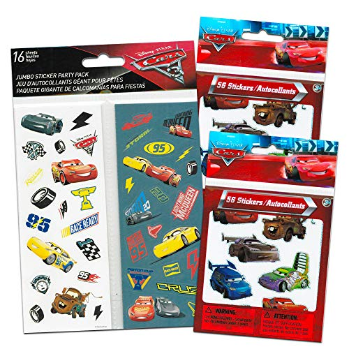Disney CARS 3 Movie Cars Stickers Party Favors - Bundle of 16 Sheets 420+ Stickers Cars Party -