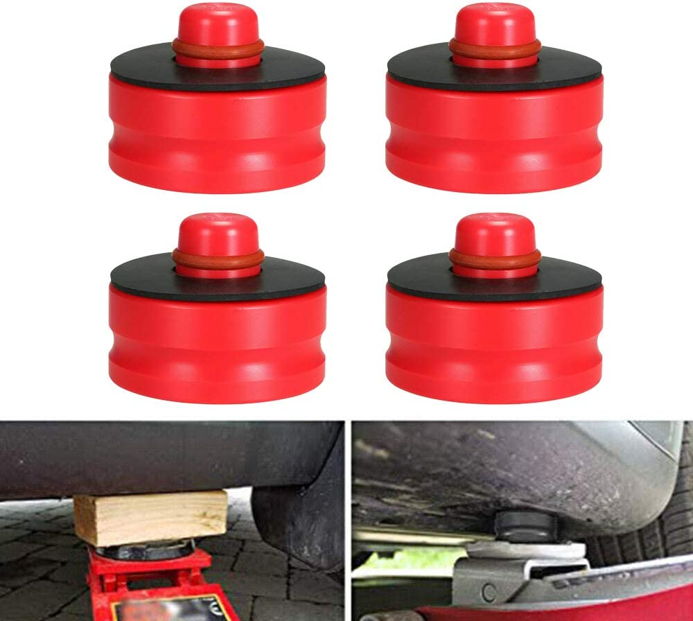 AY Customs Tesla Model 3 Car Jack Lift Pad Adapter Tool for Safely Raising Vehicle Protects Car Jack from Damaging Tesla Battery 4 Pack