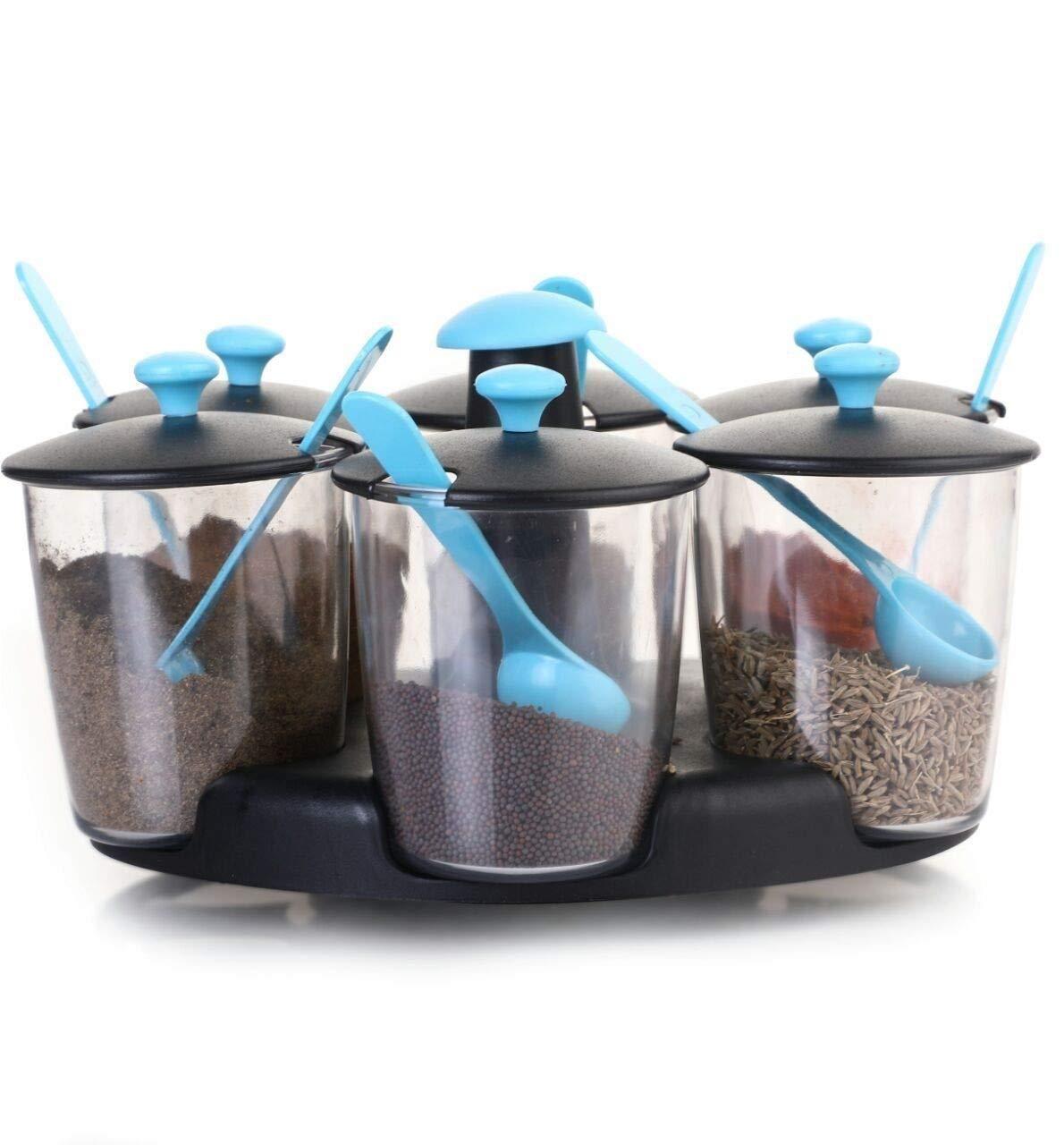 Modern Masala/Pickle Stand 6 Jar Revolving Multipurpose Stand