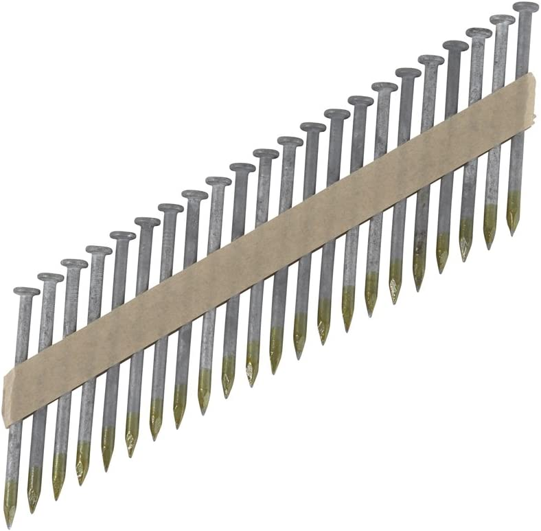 """Metabo HPT Framing Nails, 1-1/2"""" x .148"""", Metal Connector, Paper Tape, 36 Degree, Strap-Tite, Smooth Shank, Heat Treated, Hot-Dipped Galvanized, 3000 Count (17134HPT) 61LGJ8l3xyLSL1401_"""