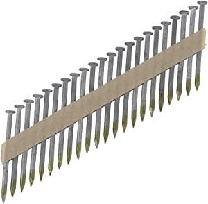 """Metabo HPT Framing Nails, 1-1/2"""" x .148"""", Metal Connector, Paper Tape, 36 Degree, Strap-Tite, Smooth Shank, Heat Treated, Hot-Dipped Galvanized, 3000 Count (17134HPT)"""