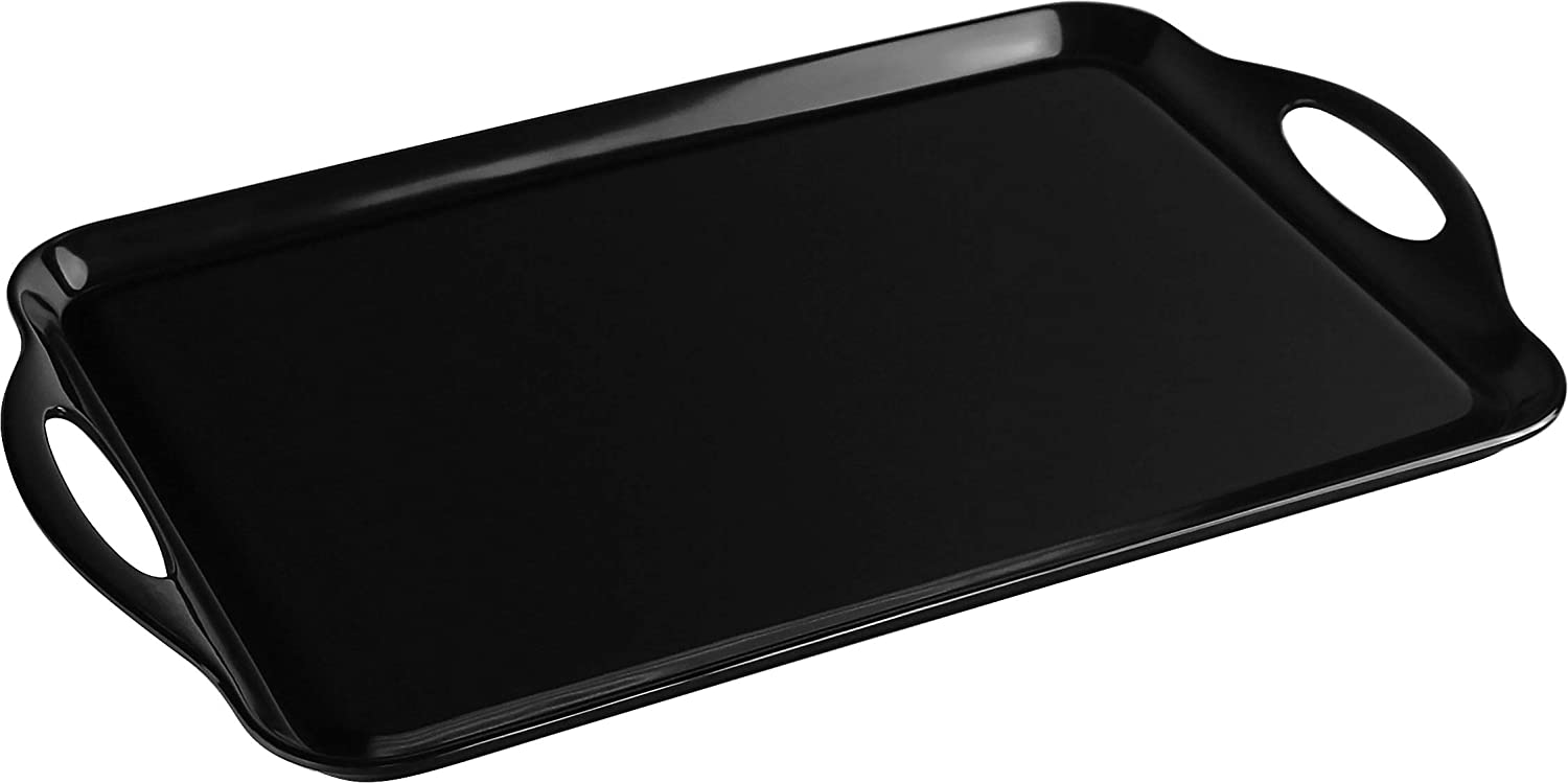 Calypso Basics by Reston Lloyd Melamine Rectangular Tray, Black
