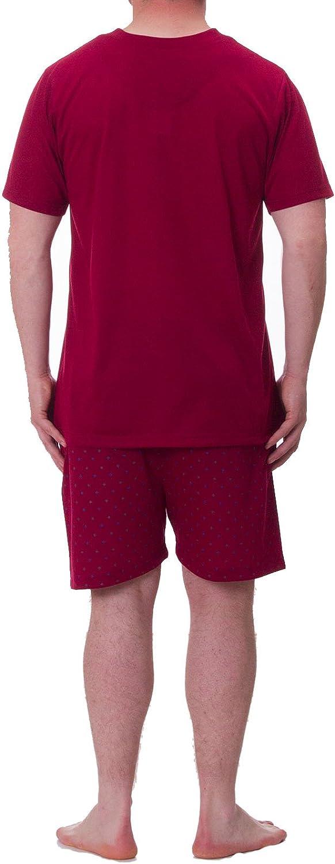 Henry Terre Shorty Pyjama Herren T-Shirt Kurze Bedruckte Hose