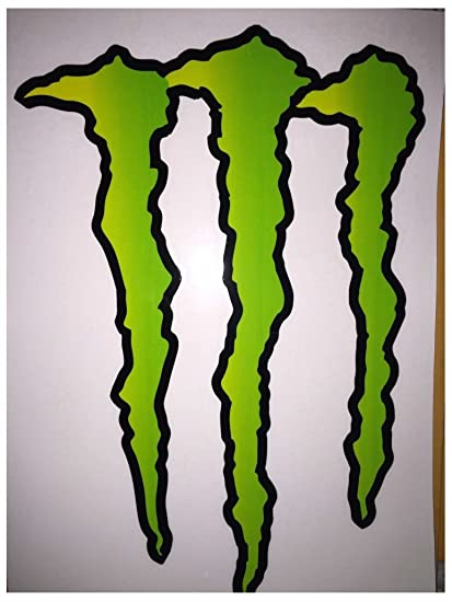 Large huge monster energy drink decal sticker 11 75 x 8 5