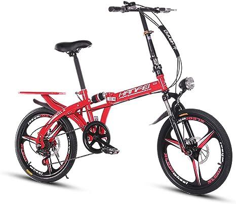 ANJING Bicicleta Plegable de 25 LB, Bike Plegable Ligera con ...