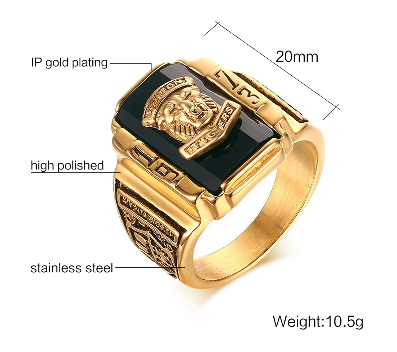 head jewellery hip amazon tone com hop medusa for dp ring gold men