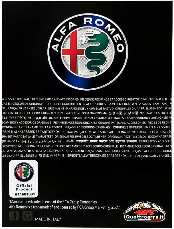 Adesivi Alfa Romeo 3D Ufficiale Quadrifoglio Verde 2 Pezzi Dx Sx