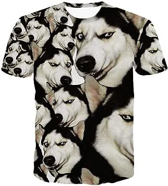 Funny Husky T-Shirt Doge 3D Animal Camisetas Lindas Mujeres Hombres Tops Camiseta Estilo de Verano Outfit Tees Poleras De Mujer: Amazon.es: Ropa y accesorios