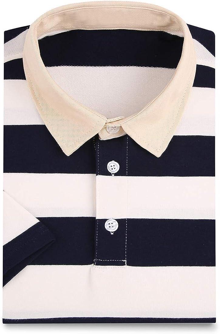 FRTCV Mens Polo Shirt Casual Slim Fit Polo T Shirts