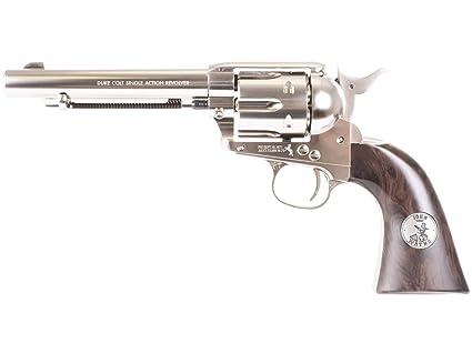 Colt John Wayne CO2 Pellet Revolver, Nickel - 0 177 Caliber