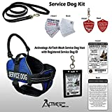 Activedogs Service Dog Kit Air-Tech Mesh Service Dog Vest Harness + Free Registered Service Dog ID + Clip-on Bridge Handle + ADA/Federal Law Cards + Service Dog Travel Tag Review