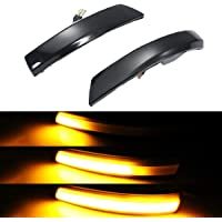 10-14 Raptor Anzios Sequential LED Side Mirror Reflector Lights Smoked Lens Compatible with Ford 09-14 F150