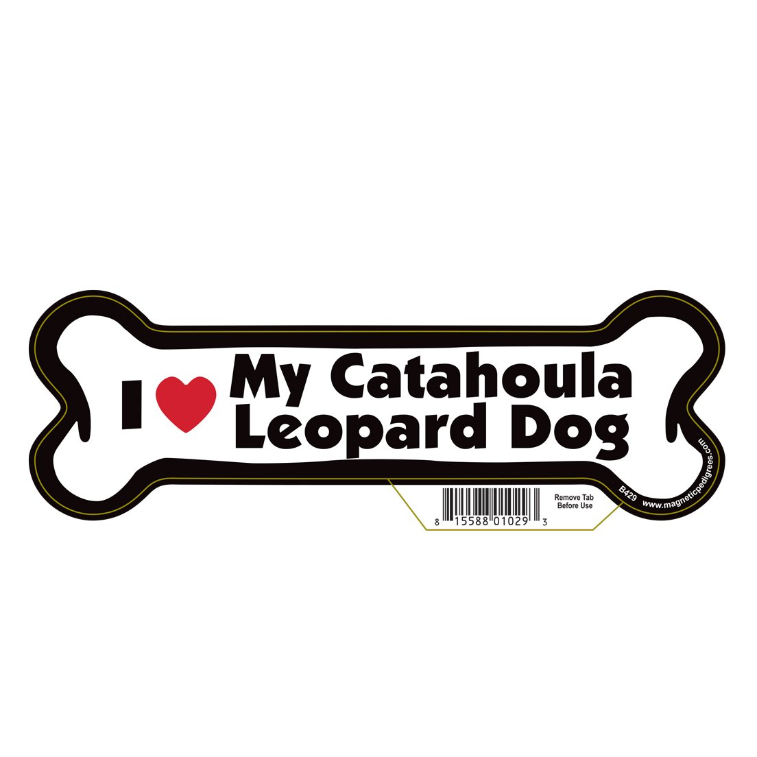 Catahoula Leopard Dog Dog Bone Magnet