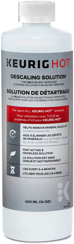 Keurig 14 Ounce Descaling Solution, Set of 3, White