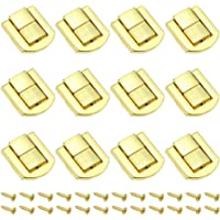 DXLing 12 Pieces Toggle Catch Lock 25 x 20.5mm Hasp Chest Lock Latch Retro Wood Box Chest Lock Latch Clasp Trinket Box…