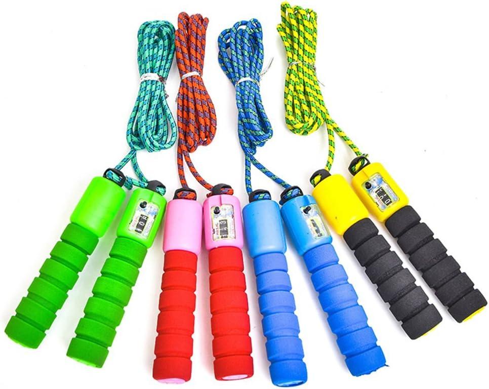 VANKER Fitness Random Color Ajustable Contar Salto Saltar Cuerda con Contador electr/ónico