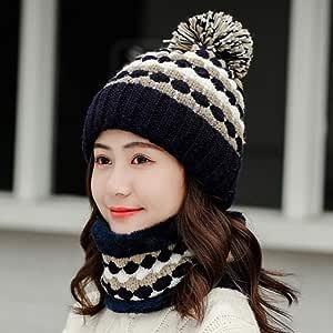 Sombrero Sombrero Gorro de Punto de Mujer Invierno Ski Cap