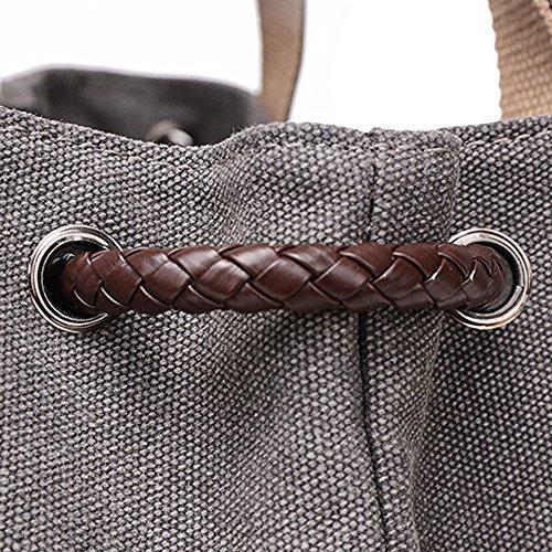 Hiigoo Printing Canvas Shoulder Bag Retro Casual Handbags Messenger Bags (Brown)